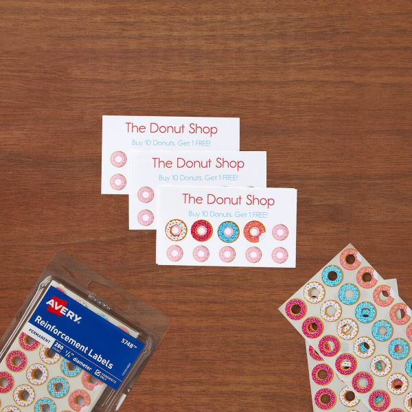 Donut Labels Punch Cards