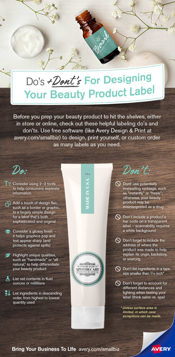 Do S And Dont S For Designing Your Beauty Product Label Avery Com
