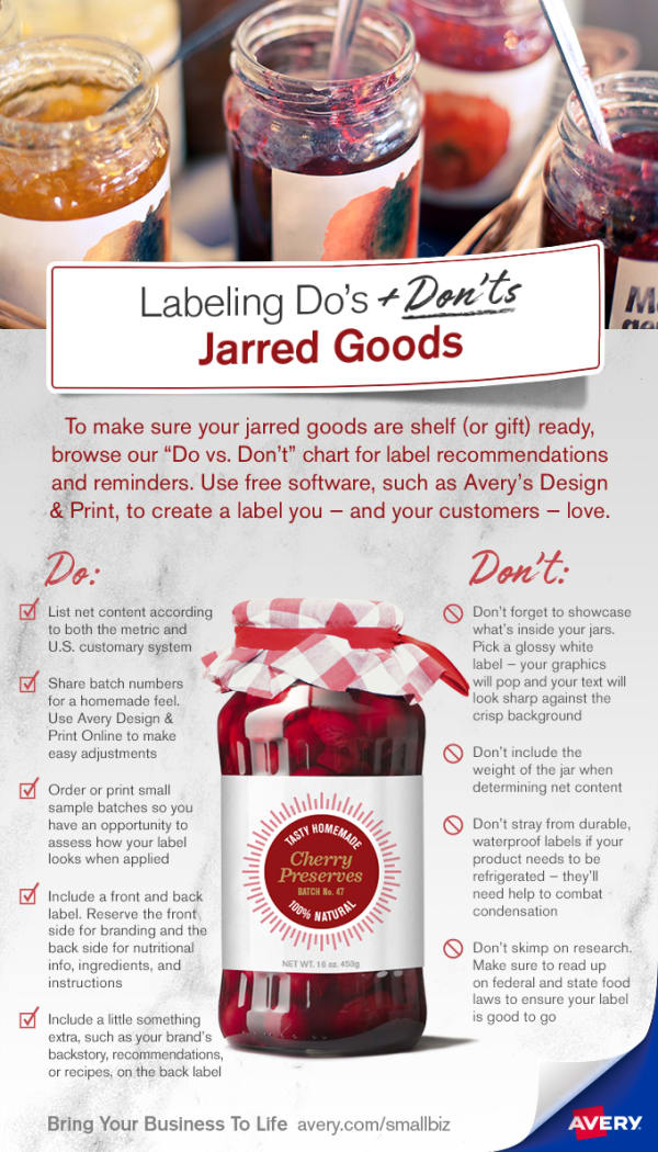 labeling do s and don ts jarred goods avery com