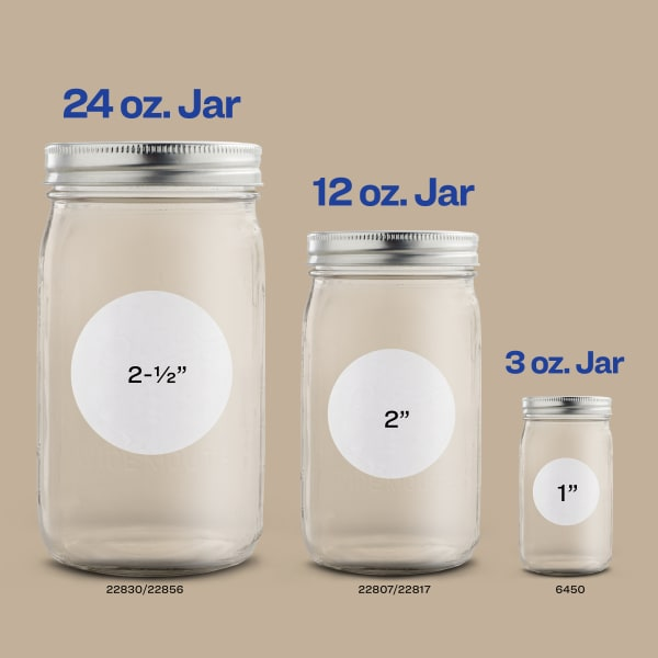 labels for mason jars round circle