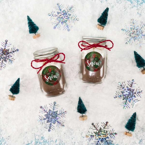 Unique jar gifts let it snow
