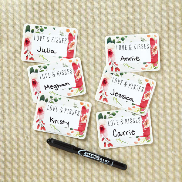 9a5ad67c1a9 Bridal Shower Love and Kisses Name Badges
