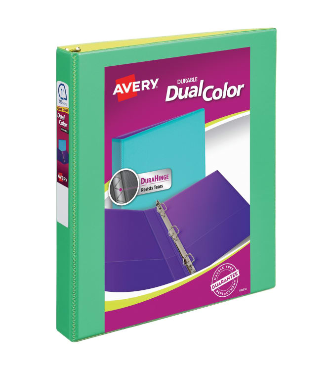 Avery® Dual Color Durable View Binder, 1