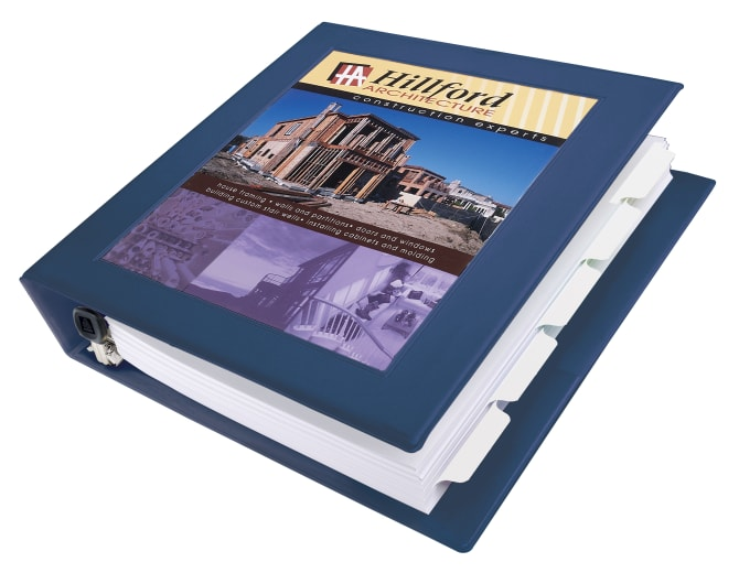 avery framed view binder 400-sheet capacity, navy blue (68059, Presentation templates