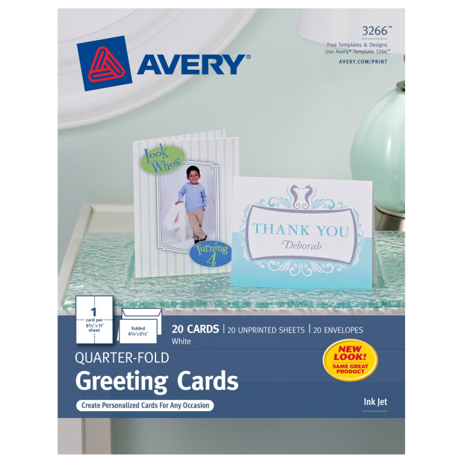 Avery QuarterFold Greeting Cards X Cards - Avery thank you card template