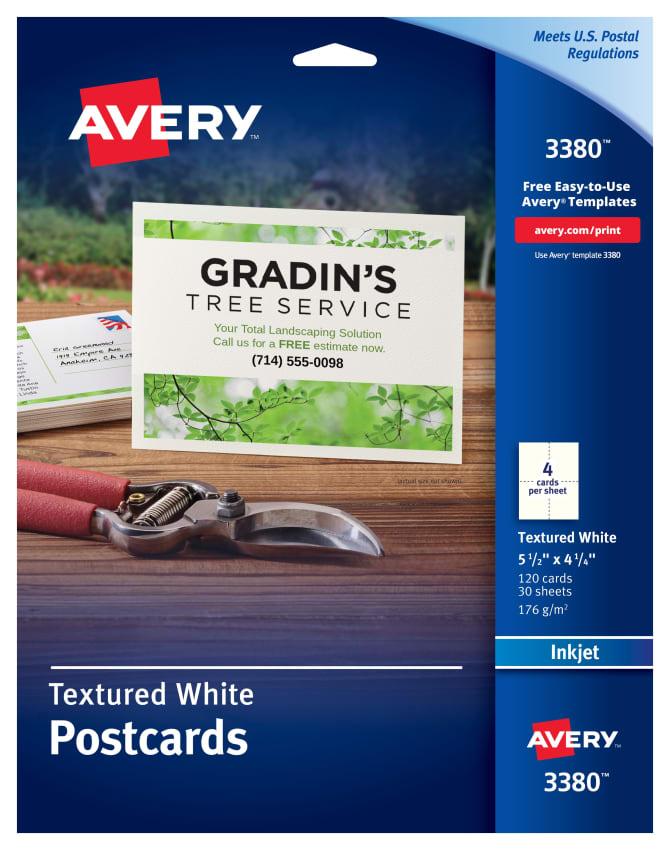Avery Postcards 5 1 2 X 4 1 4 120 Cards 3380 Avery Com