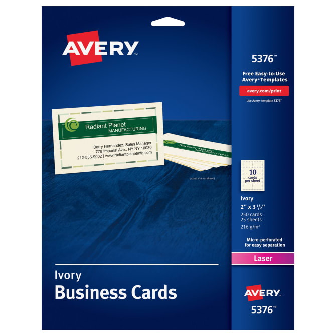 Avery® Ivory Business Cards, 2