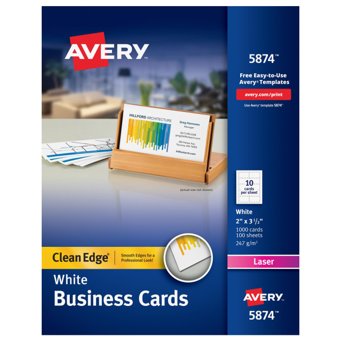 Avery clean edge printable business cards 1000 cards 5874 avery clean edge printable business cards 1000 cards 5874 avery cheaphphosting Choice Image