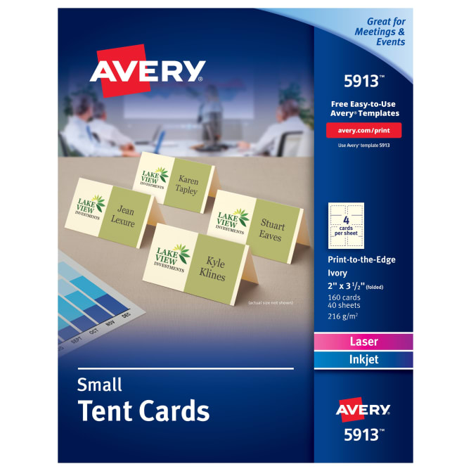 Tent Place Cards Avery
