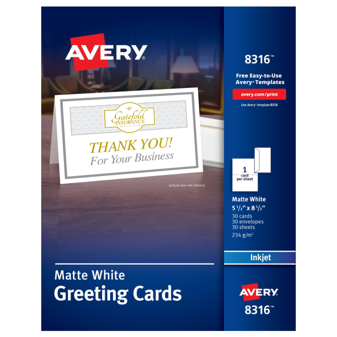 Avery half fold greeting cards 5 12 x 8 12 30 cards 8316 avery half fold greeting cards 5 12 x 8 12 30 cards 8316 avery m4hsunfo