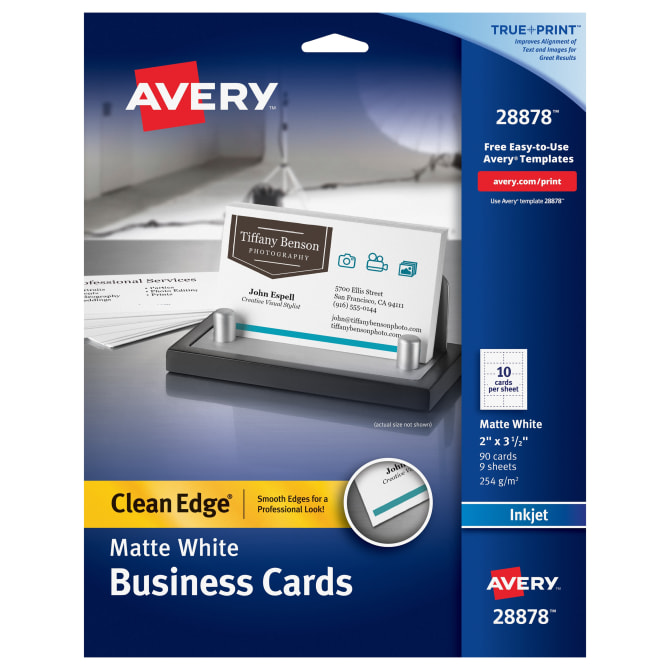Avery clean edge printable business cards matte 90 cards 28878 avery clean edge printable business cards matte 90 cards 28878 avery maxwellsz