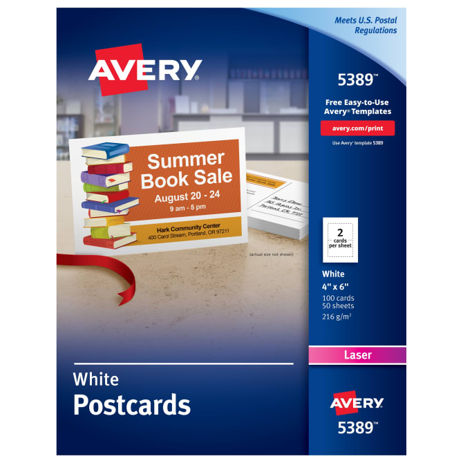 avery printable postcards 4 x 6 100 cards 5389 avery com