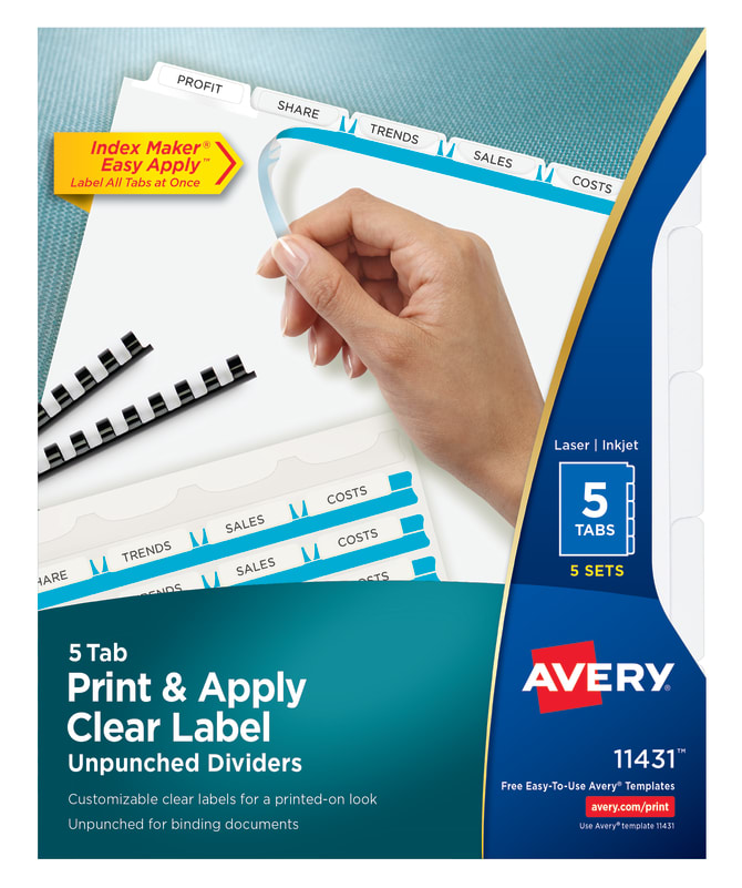 Avery print apply unpunched dividers 5 tabs 5 sets 11431 avery print apply unpunched dividers 5 tabs 5 sets 11431 avery pronofoot35fo Image collections