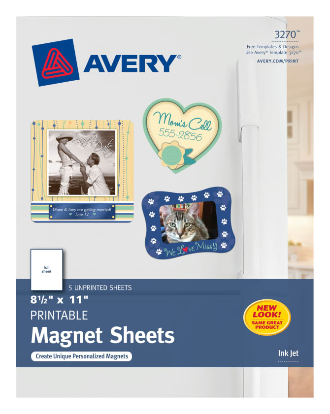 Avery magnet sheets 8 12quot x 11quot 5 labels 3270 avery stopboris Gallery