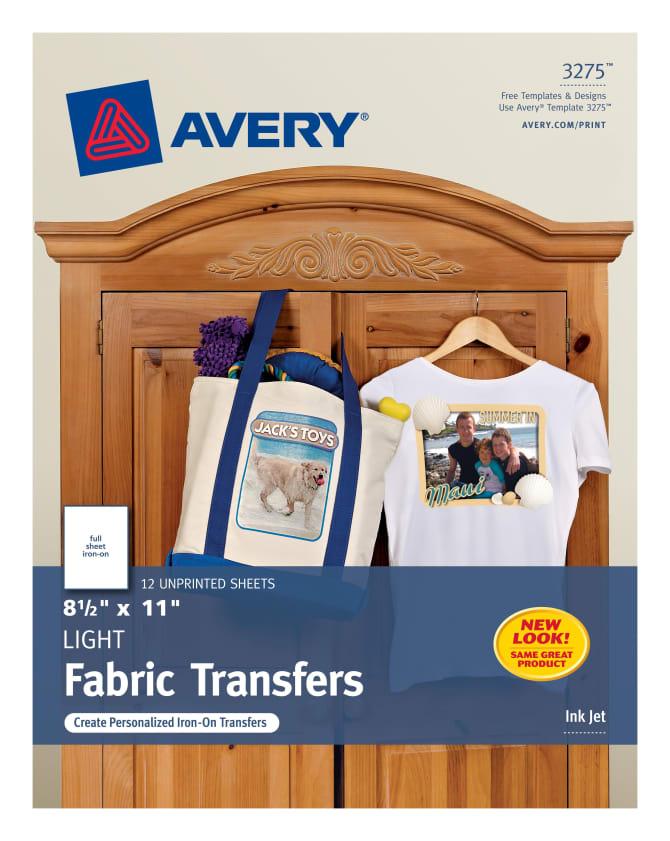 Avery Light T-Shirt Transfers 12 Transfers (3275) | Avery.com