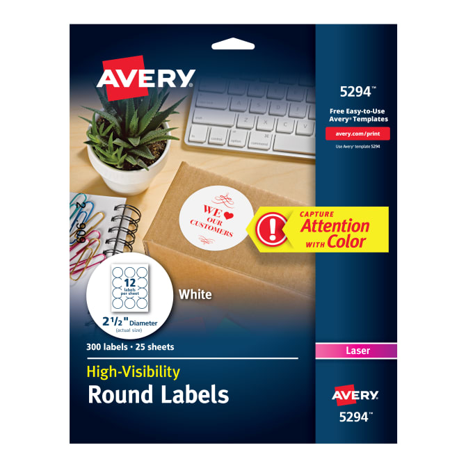 avery high visibility labels 300 labels 5294 averycom