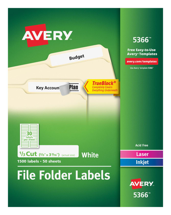 Avery File Folder Labels 2/3\