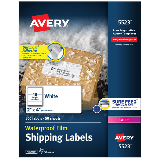 3 x 5 Avery Durable Labels Label 61504/