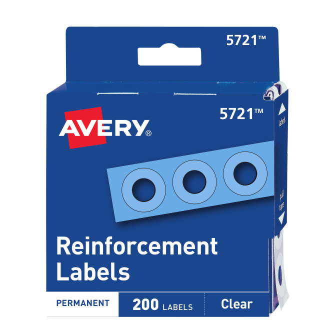 40 Stickers Avery Zweckform 63004 Reinforcement Rings