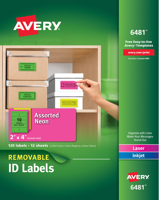 Removable Self-Adhesive Multipurpose Labels AVE6482