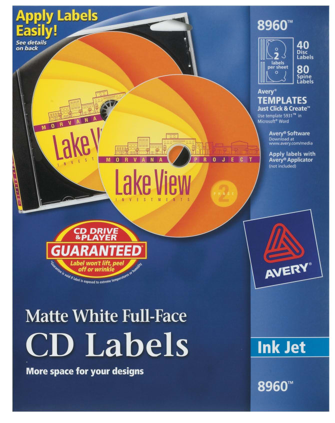 Cd Dvd Labels Inserts Avery