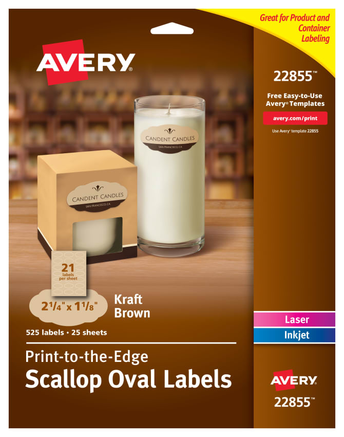 Oval Labels Avery