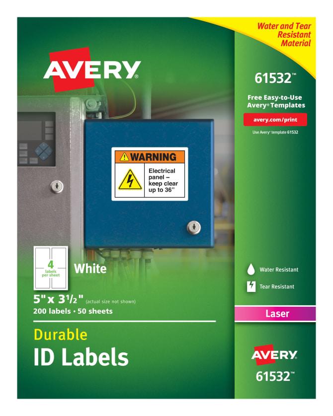 Avery durable id labels permanent adhesive 200 labels 61532 avery durable id labels permanent adhesive 200 labels 61532 avery saigontimesfo