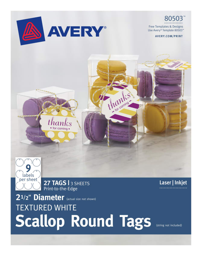 avery scallop round tags 2 1 2 diameter 27 tags 80503 avery com