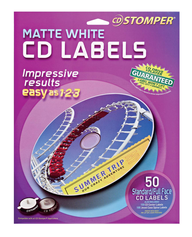 Avery CD Stomper CD Labels 50 Labels (98108) | Avery.com