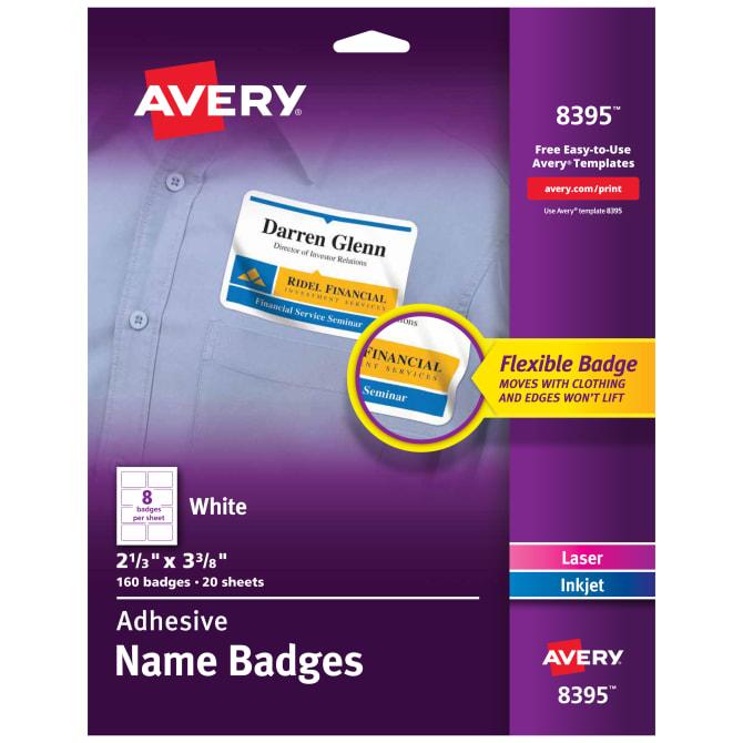 avery adhesive name badges 160 badges 8395 avery com