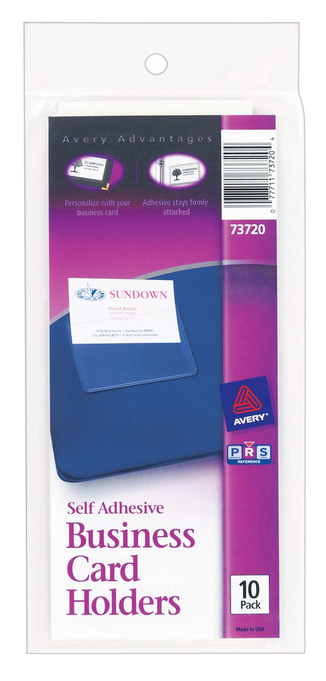 Avery self adhesive business card holders 10 holders 73720 avery self adhesive business card holders 10 holders 73720 avery colourmoves
