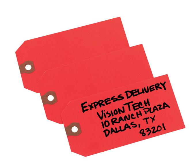 Manila Avery 12301 Unstrung Shipping Tags Box ... 2 3//4 x 1 3//8 13-pt Stock