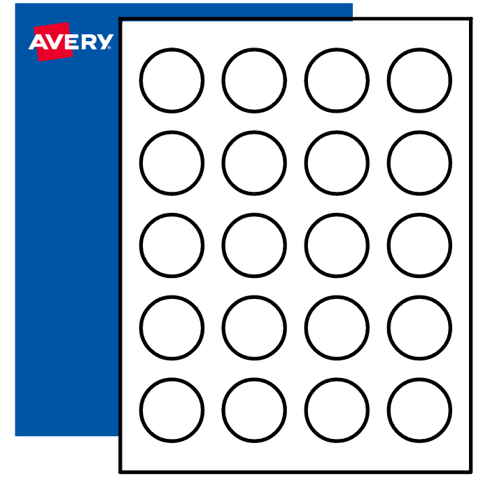 photograph about Printable Circle Labels named Blank Spherical Labels for Inkjet or Laser Printers Avery