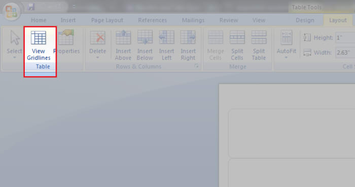 How To Turn On Show Gridlines In Microsoft Word