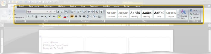 Avery Templates In Microsoft Word Avery