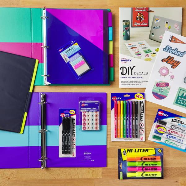 Middle school supplies checklist intermediate colorblock markers decals stickers