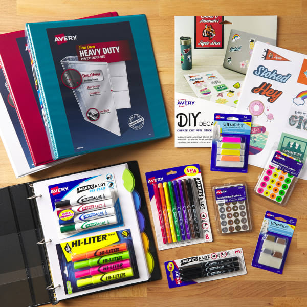 High school supplies checklist heavy duty binders ultra tabs and stickers