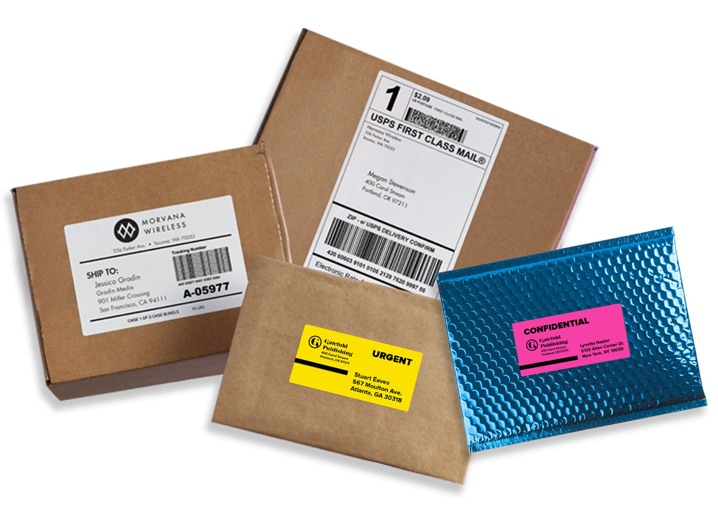 Custom Shipping Labels & Stickers - USPS Shipping Label  Avery