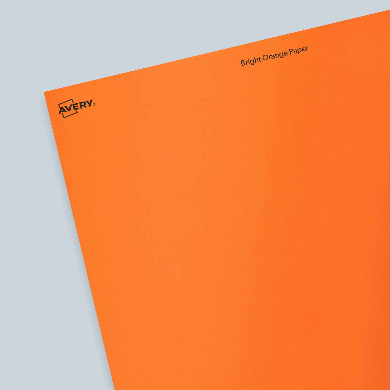 ASTROBRIGHTS® Cosmic OrangeTM Paper - Blank Sheet Labels