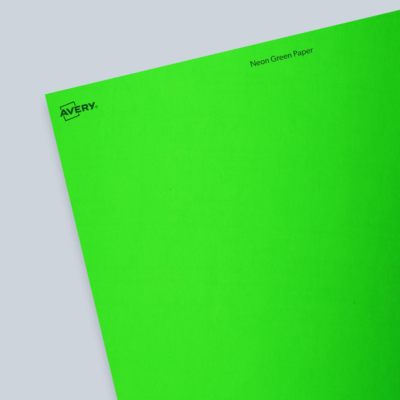 Neon Green Paper - Blank Sheet Labels