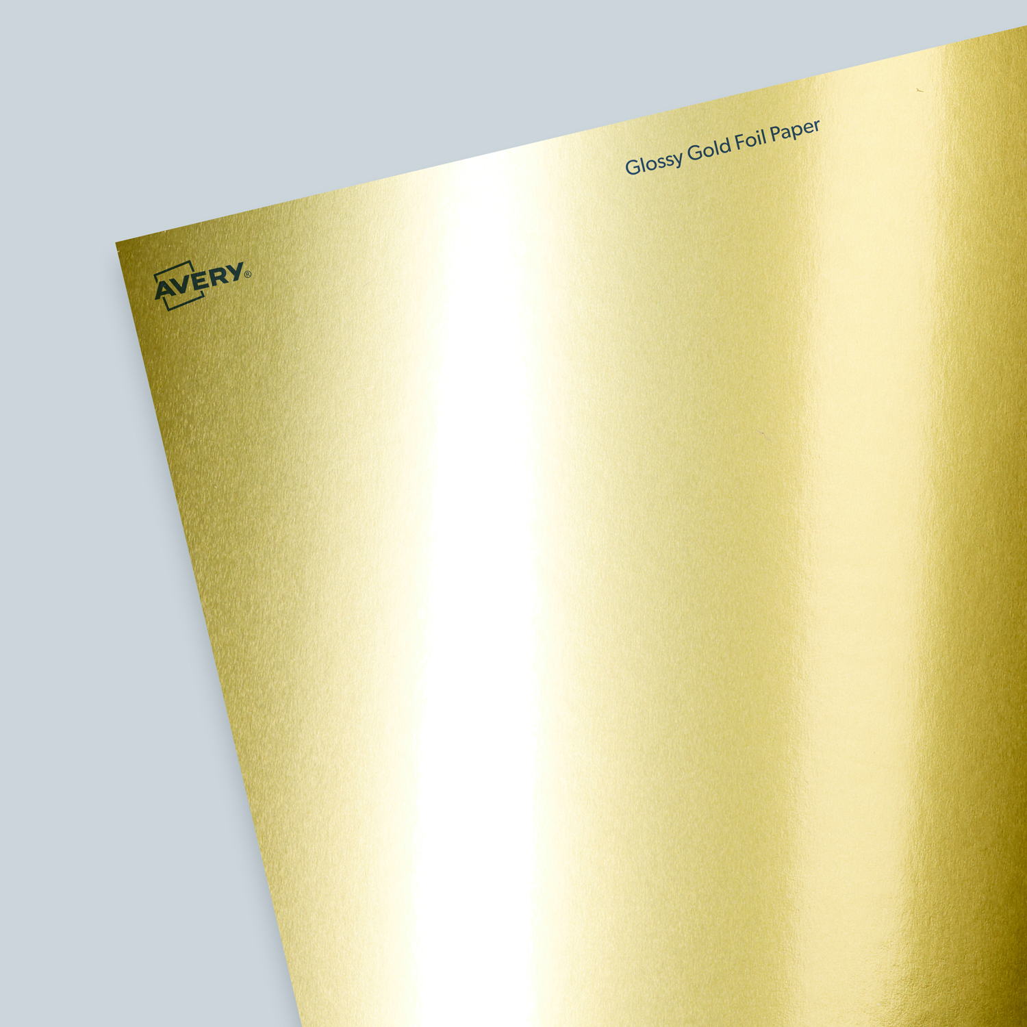Glossy Gold Foil Paper - Blank Sheet Labels