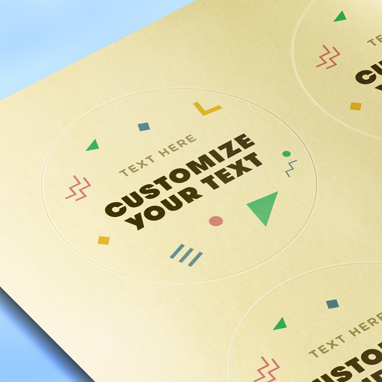 Matte Gold Foil Paper - Blank Sheet Labels