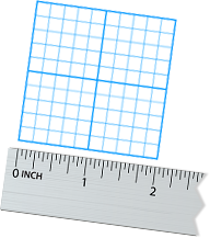 Lay your paper on a flat surface and measure your final label size.